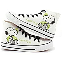 Women Shoes Summer Hand-Painted Canvas Shoes Doodle Splash-Ink Dot Lacing Low Womens