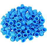 MagiDeal 1000pcs Sostenedor de Tinta de Plástico Desechable Tatuaje Taza Pigmento Titular - Azul