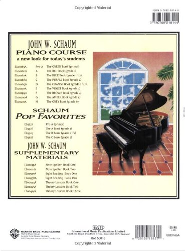 Image of John W. Schaum Piano Course: A - The Red Book