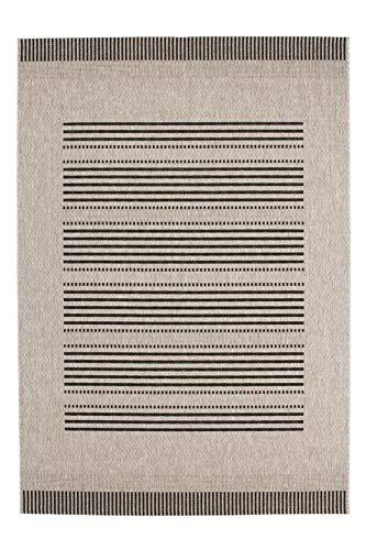 Lalee  347168996  Teppich / Sisal Optik / Flach / Küche / Muster : Streifen / Silber / Grösse : 120 x 170 cm