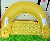 Floating Floor Das Wasser aufblasbares Bett Kissen Couch Sofa Gelb