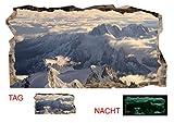 Startonight 3D Tapete Schnee auf den Bergen, Wandmalerei Bild an der Wand Großformat Modern Muster Dekorative Kunst Wand 120 x 220 CM