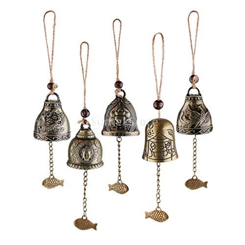 Dolity - 5 campanas de viento estilo chino Feng Shui para manualidades