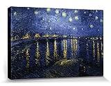 1art1 57195 Vincent Van Gogh - Sternennacht Über Der Rhône, 1888 Poster Leinwandbild Auf Keilrahmen 120 x 80 cm