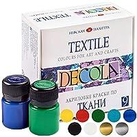 Nevskaya Palitra | Set di colori per tessuti resistenti ai lavaggi | alta qualità | 9 x 20 ml