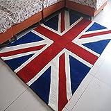 LETFF Verdickung Wohnzimmer Schlafzimmer Teppich England m Wort Flagge Teppich(1,120cm by 170cm)