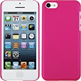 PhoneNatic Case für Apple iPhone 5c Hülle pink gummiert Hard-case für iPhone 5c + 2 Schutzfolien