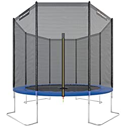 Ultrasport - 330700000120 - Trampoline de jardin avec accessoires inclus - Mixte Adulte - Bleu - 127x30x52 cm