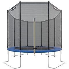 Idea Regalo - Ultrasport Jumper Trampolino da giardino con con accessori inclusi,peso fino a 160kg, Blu, Ø 305 cm