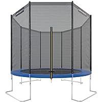 Ultrasport Trampolino da Giardino Jumper, Inclusa Rete di Sicurezza, Blu, 305 cm