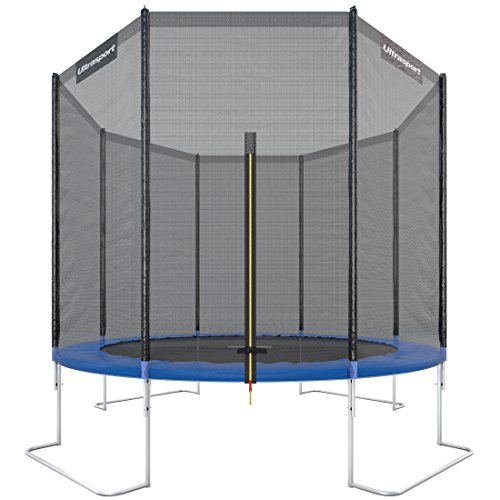 *Ultrasport Gartentrampolin Jumper inkl. Sicherheitsnetz, Blau, 305 cm, 330700000120*