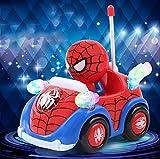 Jouet de Voiture, Spiderman Marvel Voiture de contrôle à Distance sans Fil Hors Route modèle de Course Jouet,B