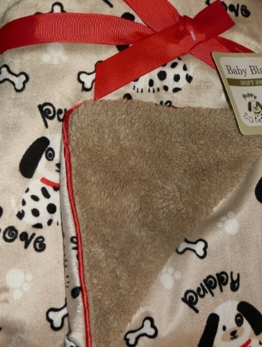 dalmatian-puppy-love-soft-sherpa-baby-nursery-blanket-khaki-black-white-red-by-sl-baby-collection