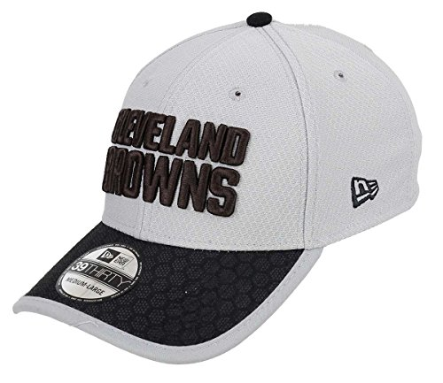 New Era - Cleveland Browns - 39thirty Cap - Nfl Sideline 2017 - Gray - S-M (6 3/8 - 7 1/4) (Browns Bekleidung Herren Cleveland)