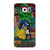 La Belle et La Bête Rose Étui/Coque de Téléphone pour Samsung Galaxy S6 Edge (G925) avec Protecteur D'écran/Silicone Doux Gel/TPU / iCHOOSE/Vitrail - Danse