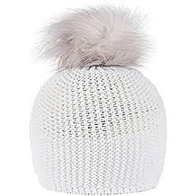 4sold invierno gorro de lana Pom Pantera Zari desgarbado Snowstar enrojecer de esquí sombreros cráneo