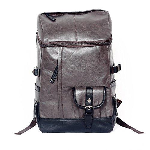 Meoaeo Alpinismo Travel Bag Men La Borsa Della Borsa A Tracolla Scuola Multifunzionale Borsa Da Viaggio Nero Coffee