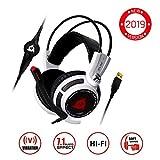 KLIMTM Puma - Micro Casque Gamer - Son 7.1 - Audio Très Haute Qualité - Vibrations...