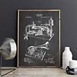 GUDOJK Peinture décorative Gramophone Affiche Platine Disque Art Prints Salle De Musique Décor Boîte à Musique Toile Peinture Musicien Idée Cadeau-40x60cm