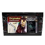 A-Sure Autoradio DVD GPS Mirrorlink USB SD Navigation Auto Navi RDS für Opel Antara Corsa Vectra Zafira Vivaro Original Kartematerial (49 europäische Länder) W4OVBQ 2-Jahre-Garantie