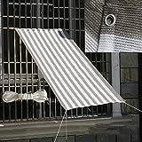 YUDEYU Sonnencreme Beschattungsnetz Gartenarbeit Lichtübertragung Isolationsnetz Balkon Terrasse Mit Einer Kordel (Color : Gray White Strip, Size : 2x3m)