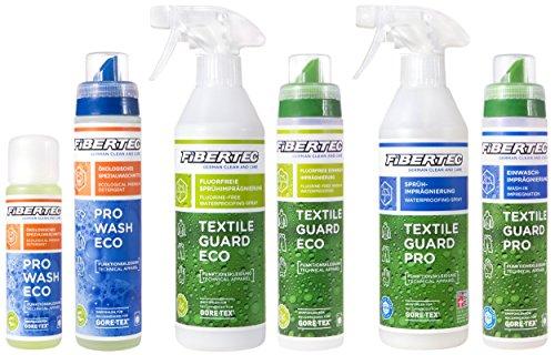 Set Waschen und Imprägnieren von Fibertec (Pro Wash Eco 100 ml, Textile Guard Eco 250 ml)