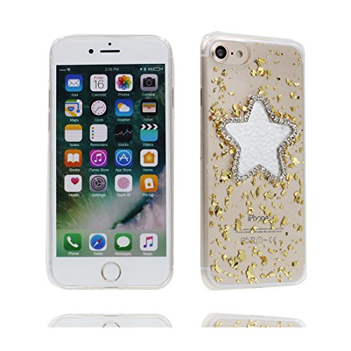 [ Carino Cartoon stelle porpora ] iPhone 7 Custodia, case Paraurti dassorbimento con TPU Back-Anti-Scratch [Perfetta misura] Cover iPhone 7 Copertura Shell ( iPhone 7 4.7) giallo