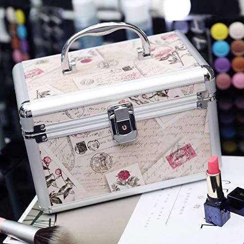 CCASECOSMETI Makeup Kosmetikkoffer, Professionelle Make Up Etui Kosmetische Box Tragbare Reise Künstler Aufbewahrungstasche Toiletry, 002 -