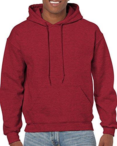 GILDAN  Herren Kapuzenpullover Gr. Large, Rot - Antikes Kirschrot (Herren Rot T-shirt Blank)