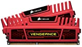 Corsair Vengeance Memoria RAM, 8 GB, 2x4 GB, DDR3, 240-pin DIMM, PC3-12800, 1600 MHz,  con Supporto XMP 1.3, Rosso (Red)