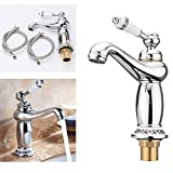 KING DO WAY Wasserhahn Modern Einhebel Wasserhahn Waschbecken Mischbatterie Waschbecken Armatur Silber