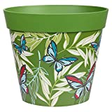 Hum Flowerpots,green butterfly palms plant pot, outdoor/indoor planter...