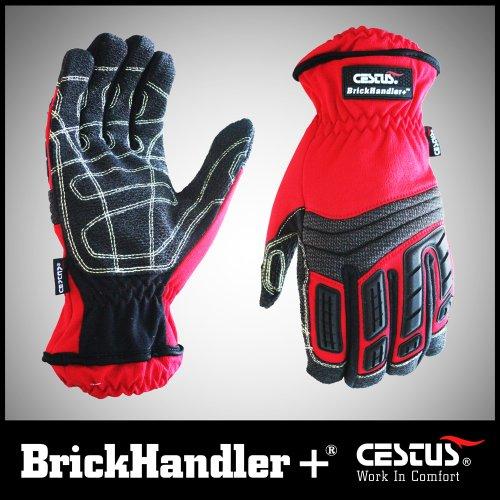 (Cestus (Waffe) R 4000M brickhandler + r-3044M Suche und Rettung Handschuh, mittel, rot, PAAR)
