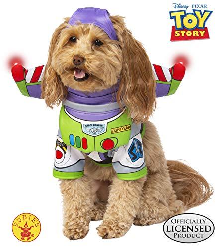 Story Kostüm Toy Hunde Für - Rubie's Disney Toy Story Haustierkostüm, Buzz Lightyear, Large, Mehrfarbig