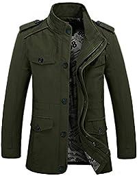 Long manteau aléatoire du revêtement du coton des nouveaux hommes d'hiver ()