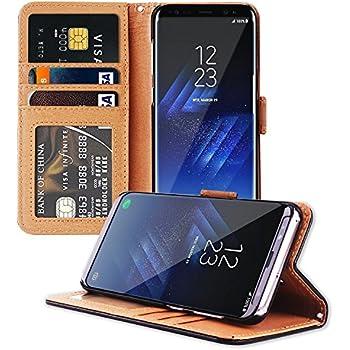 Angozo Housse Samsung S8 Plus, Portefeuille Étui de Protection Coque Pochette pour Samsung