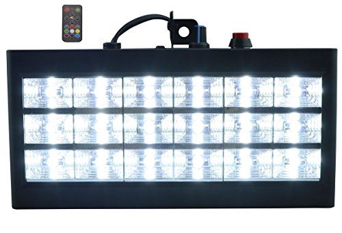 18 LED Strobe Lampe, Latta Alvor Stroboskop Disco Licht Mini Bühnenbeleuchtung RGB/Weiß DJ Strobe Lights für Party Licht (Weiß)