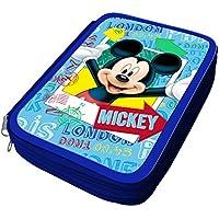 Atosa-33248 Disney Estuche Niño Mickey, Color Celeste, 2115 cm (33248)