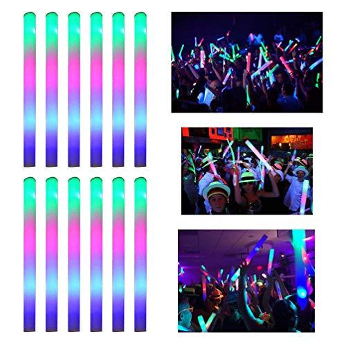 Mobestech 22 piezas luz LED palo luz colorida brillante