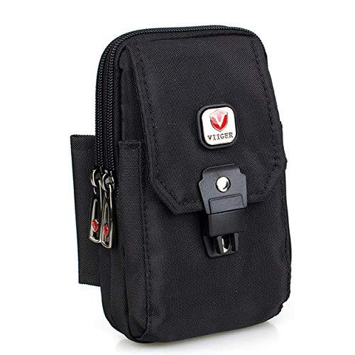 VIIGER Mehrzweck-Smartphone-Tasche aus Nylon, mit Gürtelschlaufe, Gürteltasche für Herren, Gürteltasche für iPhone XS, Max X 6, 6S, 7, 8 Plus, Samsung Galaxy S8, S9+ -