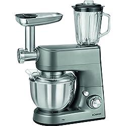 Bomann KM 1373CB leistungsstarke Robot de cuisine multifonctions, 1000W, 5l inox, Saladier, titane