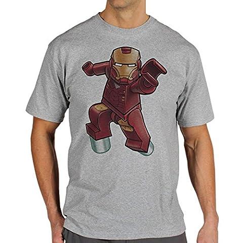 Iron Man Lego XL Herren T-Shirt