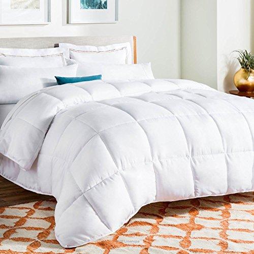 Kanal-quilt (Hohlfaser-Bettdecke Single Double King Super King 13,5Tog Quilt Betten Luxus, Microfaser, weiß, Doppelbett)