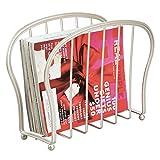 mDesign porta riviste – elegante portagiornali design in metallo – ideale portariviste bagno o ufficio – pratico raccoglitore perfetto per libri, tablet, giornali ecc.