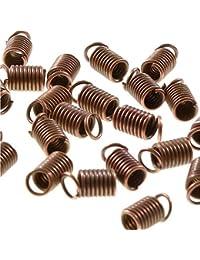 Accesorios para la creación de bisutería - Terminales forma muelle para cordón de3mm de diámetro, 50 unidades