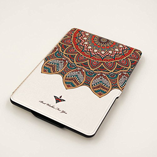 Schutz Hülle Tasche für Amazon Kindle Paperwhite Smart Tasche Etui Cover Case,Medaille, weiße Farbe (Fabrik-leder-jacke)