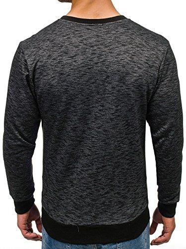 BOLF Herrenpullover Sweatshirt Sweatjacke Langarm Pullover MADMEXT 1226 Schwarz_1693