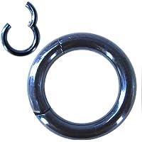 NewkeepsR 6G-8G-20G-18G-16G-14G-12G-10G 5/6/7/8/9/10/11/12/13/14/16mm 316L Steel Hinged Clicker Segment Septum Lip Nose Hoop Ring Helix Daith Cartilage Tragus
