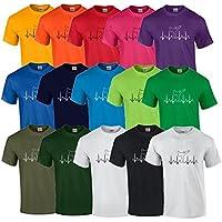 S.B.J - Sportland Schweres Qualitäts T-Shirt Herzschlag EKG Karate/Taekwondo / Kick