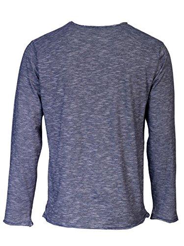 TREVOR'S KENAN Herren Langarmshirt mit Rundhalsausschnitt aus 100 % Bio-Baumwolle - soziale fair trade Kleidung, Mode vegan und nachhaltig Color midnight, Size S - 2